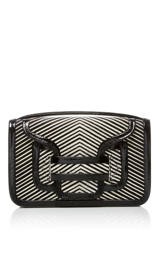 Medium pierre hardy black white alpha crossbody clutch 2