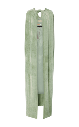 Medium rick owens green velvet long cape
