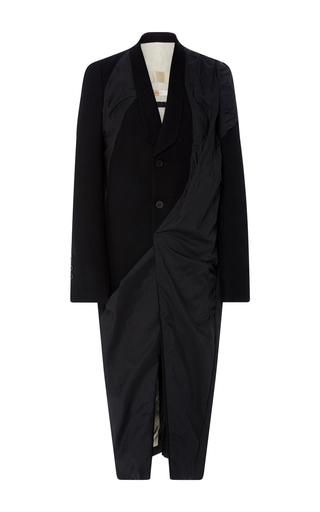 Medium rick owens black wool panel coat
