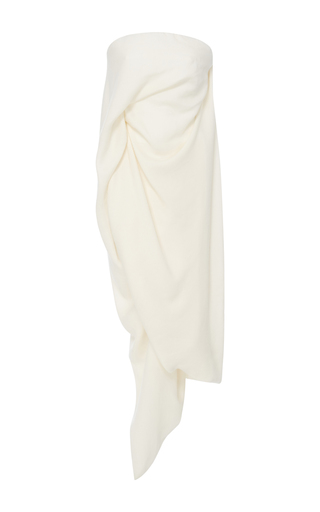 Medium rick owens ivory strapless draped top