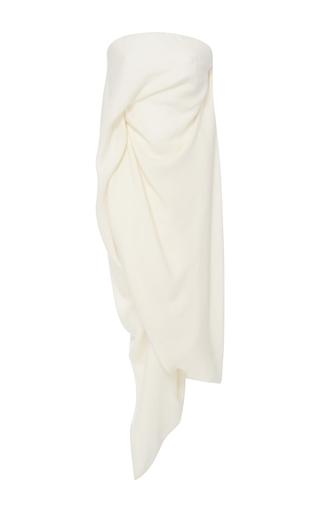 Medium rick owens ivory strapless draped top