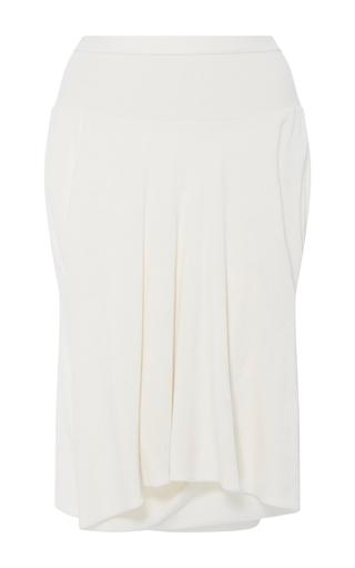 Medium rick owens ivory velvet front draped shorts