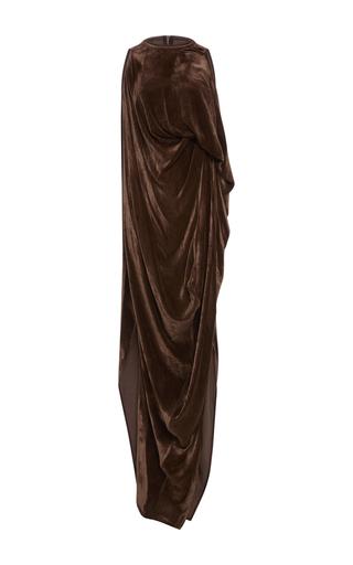 Medium rick owens brown velvet sheath dress