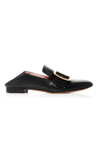 Medium bally black janelle buckle mule