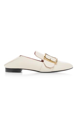 Medium bally white janelle leather slippers