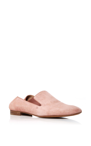 Medium bally pink boell suede mules 2