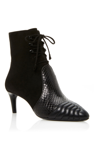 Medium bally black macumba lace up bootie