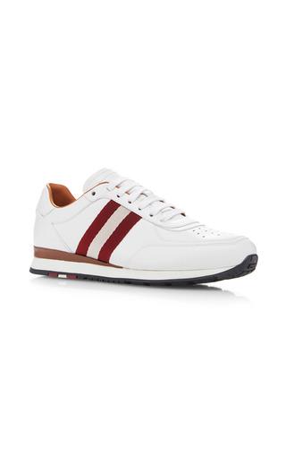 Medium bally white ashlie lace up sneakers