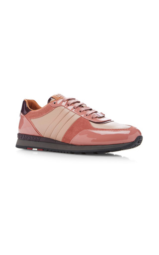 Medium bally pink asyia lace up sneakers