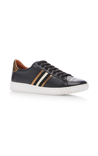 Medium bally black wiolet lace up sneaker