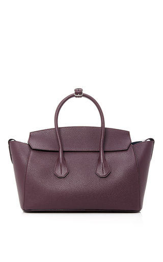 Medium bally red sommet leather tote