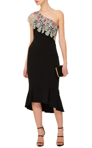 One Shoulder Flute Dress by PETER PILOTTO Now Available on Moda Operandi