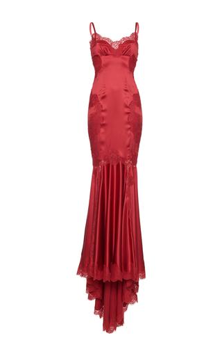Medium dolce gabbana red camisole bodice gown