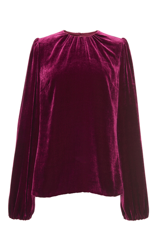 Medium dolce gabbana burgundy velvet blouse