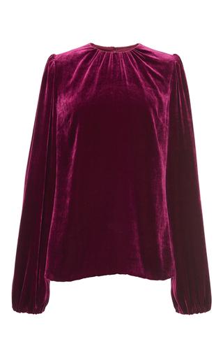 Medium dolce gabbana burgundy velvet blouse