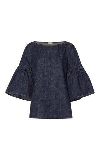 Medium suno dark wash denim bell sleeve tunic