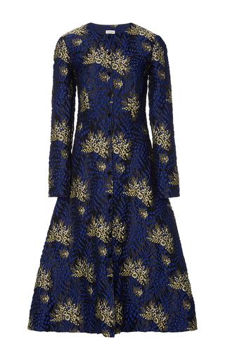Medium suno blue floral raised jacquard dress