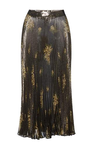 Medium suno dark green pleated lurex skirt