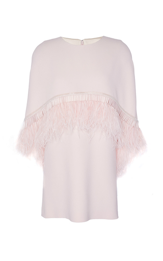 Medium andrew gn pink ostrich feather mini dress