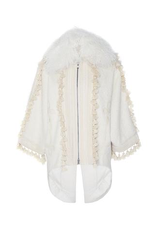 Medium andrew gn white tassel detail coat