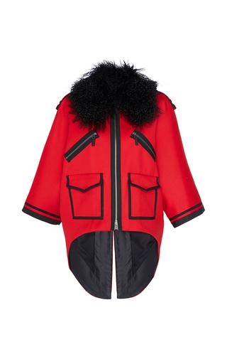 Medium andrew gn red fur collar jacket