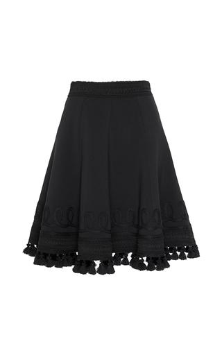 Medium andrew gn black tassel hem a line skirt  2