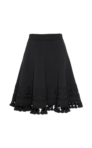 Medium andrew gn black tassel hem a line skirt  2