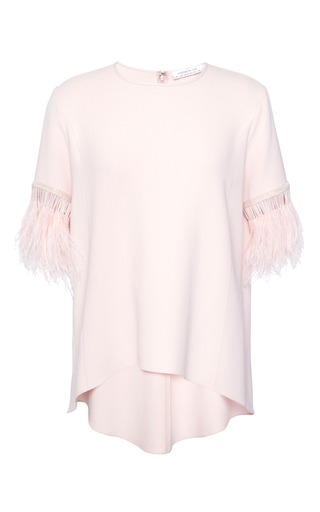 Medium andrew gn pink ostrich feather top