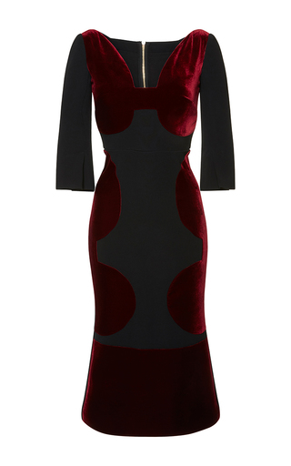 Medium roland mouret burgundy balden velvet dress