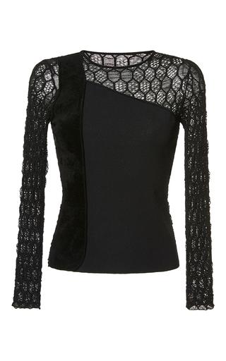 Medium roland mouret black gwynn honeycomb lace top