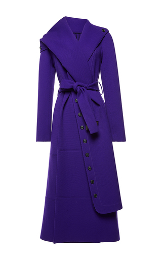Medium roland mouret purple harper wool twill coat