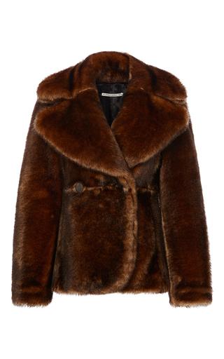 Medium alessandra rich brown mink faux fur jacket