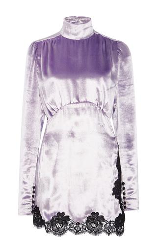 Medium alessandra rich purple velvet baby doll dress