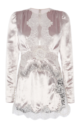 Medium alessandra rich silver lace baby doll dress