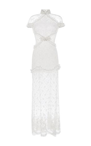 Medium alessandra rich white mood lace dress