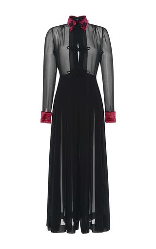 Medium alessandra rich black georgette dress