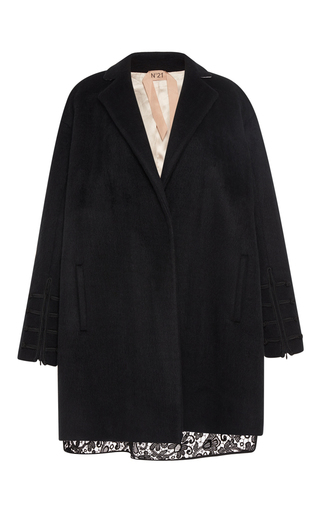 Medium no 21 black lace combo tea coat