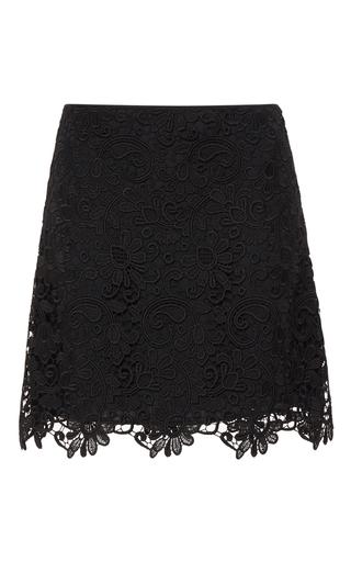 Medium no 21 black ingrid lace mini skirt