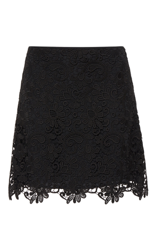 Medium no 21 black ingrid lace mini skirt