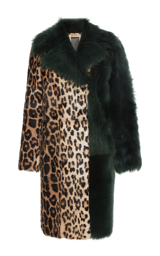 Medium no 21 print zorela leopard fur coat
