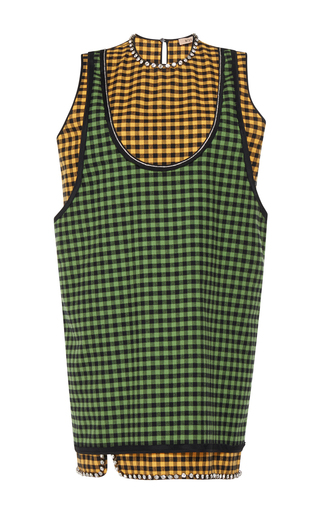 Medium no 21 plaid samira layered checked dress