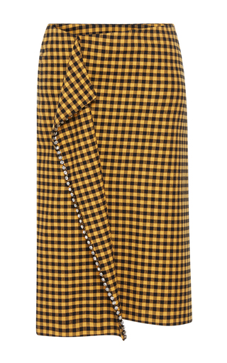 5733d7a210 Ended. N°21Antonietta Plaid Pencil Skirt