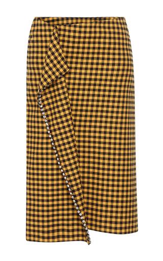 5733d7a210 Ended. N°21Antonietta Plaid Pencil Skirt