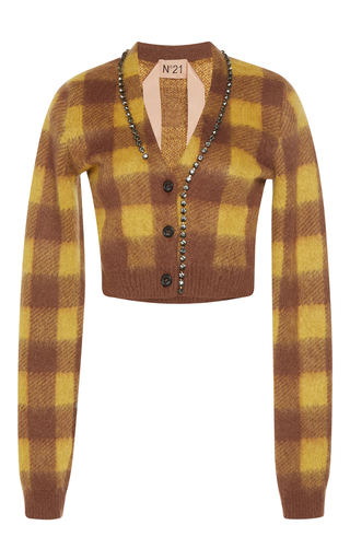 Medium no 21 plaid stana checked cardigan