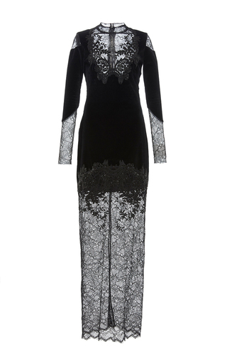 Medium zuhair murad black lace long sleeve dress