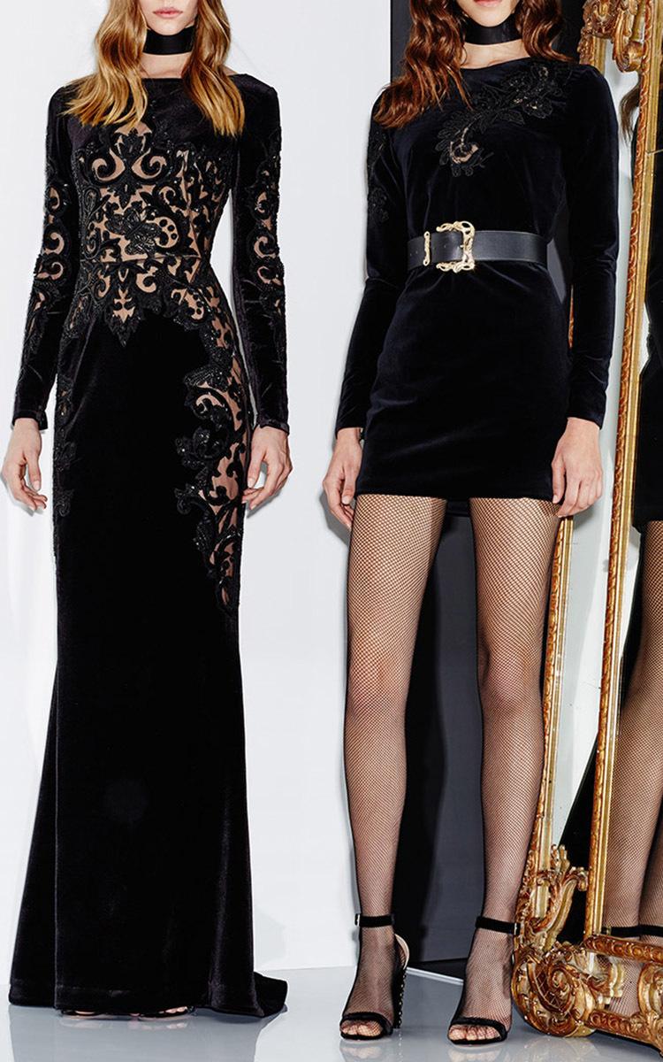 cf4486a33248 Long Sleeve Velvet Dress by Zuhair Murad | Moda Operandi