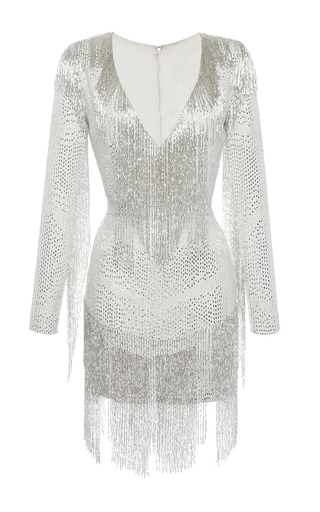 Medium zuhair murad white beaded mini dress