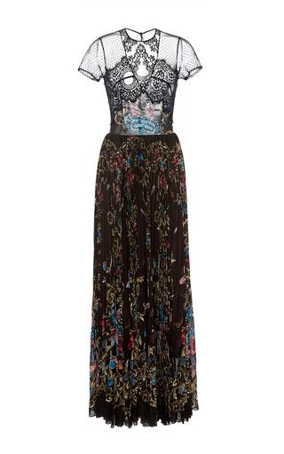 Medium zuhair murad black lace pleated dress