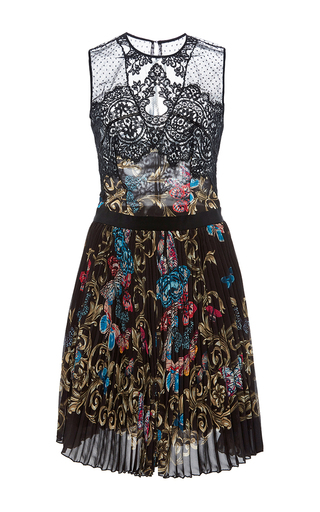 Medium zuhair murad multi flared pleated butterfly dress