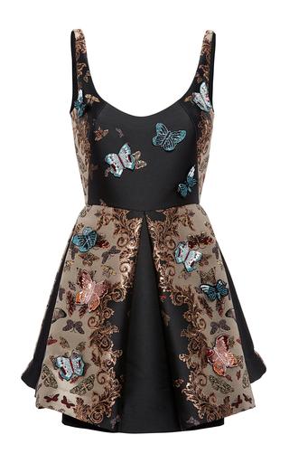 Medium zuhair murad multi mini flared butterfly tank dress